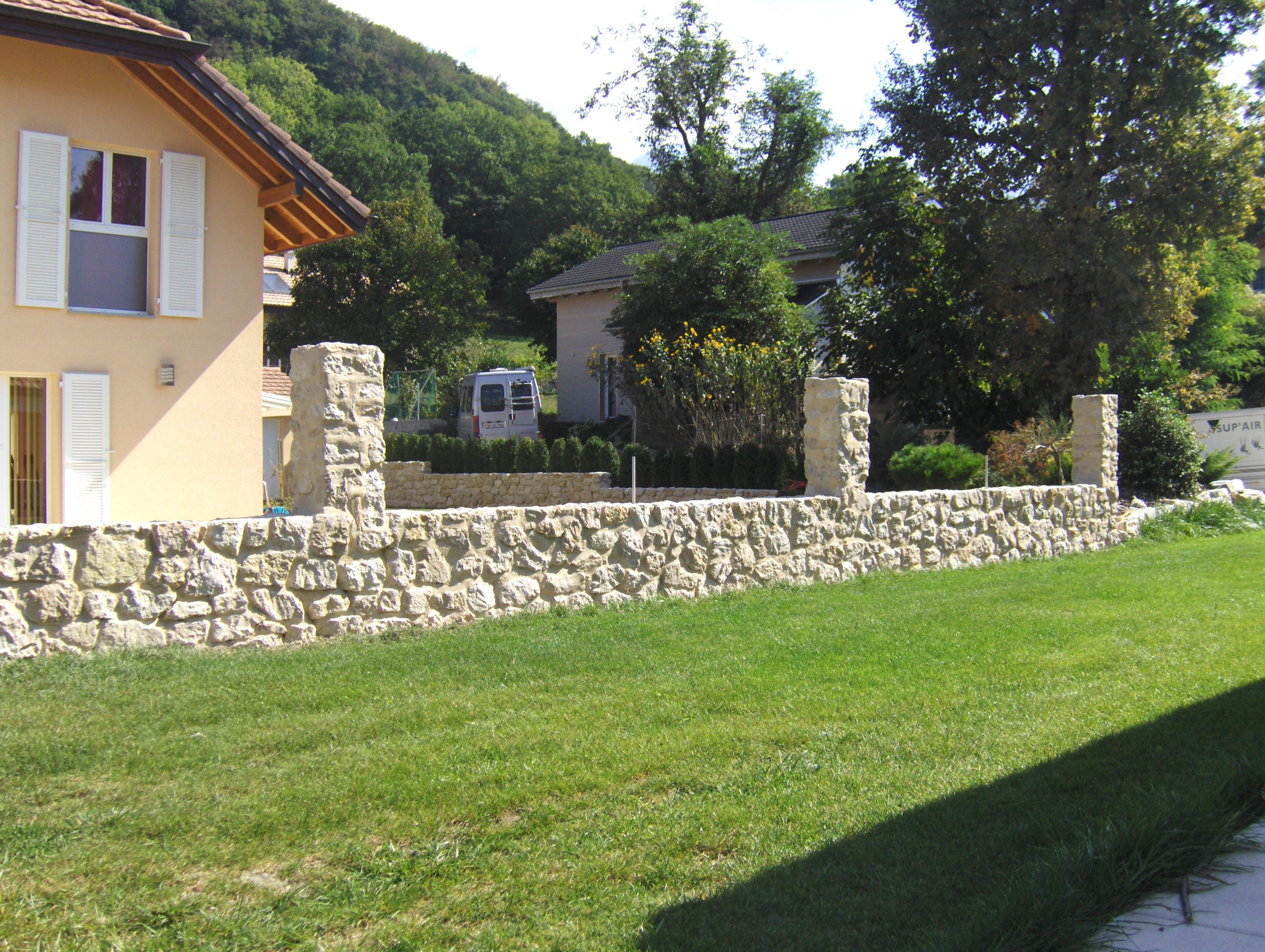 Pierre mur et terrasse artisan du paysage s rl - Mur terras ...